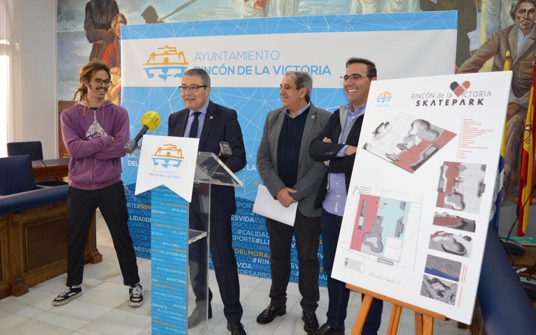 Rincón de la Victoria presenta el proyecto de un nuevo Skatepark en la zona de Huerta Julián con un presupuesto de 105.000 euros