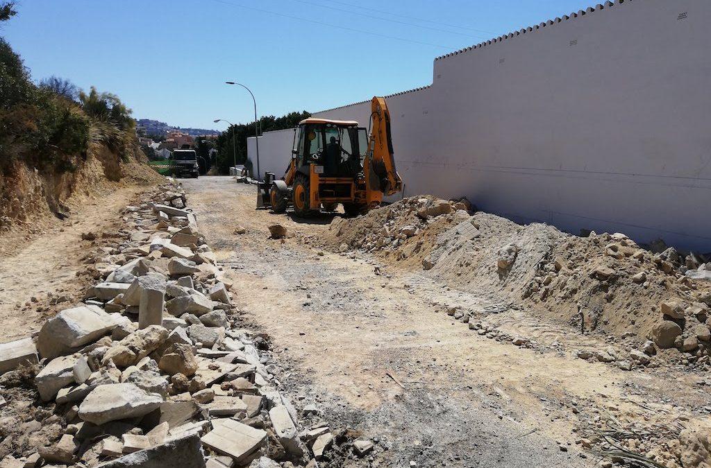 Iniciadas las obras del proyecto de ampliación del cementerio de Rincón de la Victoria con la dotación de 400 nuevos nichos