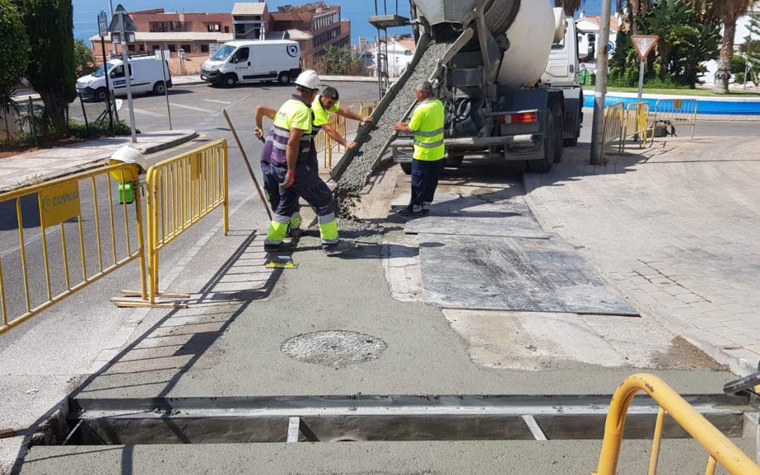 Las obras de instalación de la red de pluviales en la Avenida Picasso están al 70%