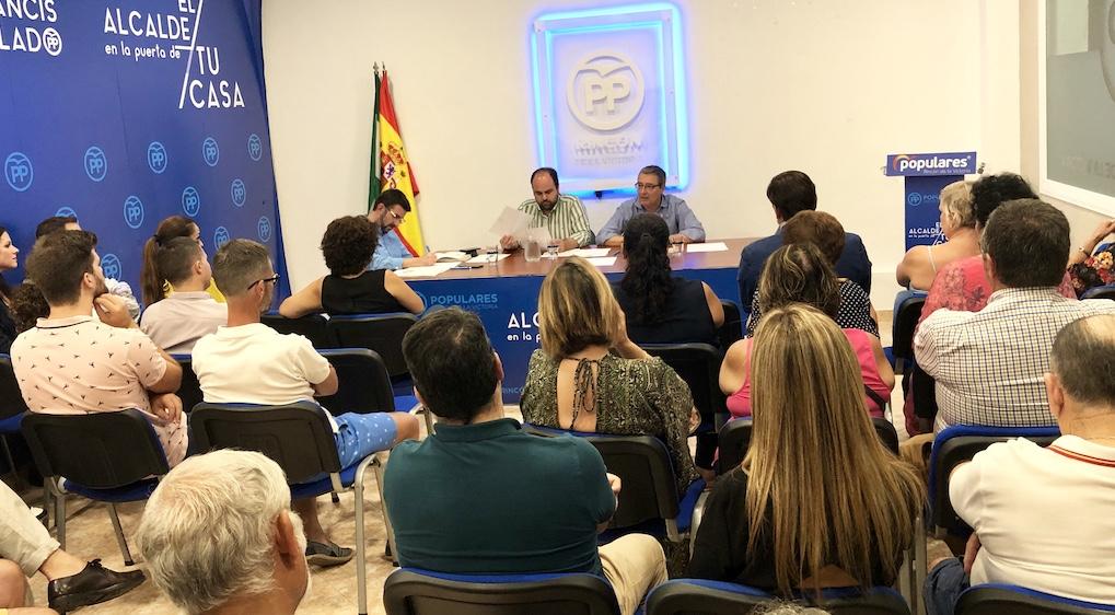 El PP de Rincón de la Victoria reestructura su organigrama y apuesta por hasta cuatro nuevas vicesecretarías