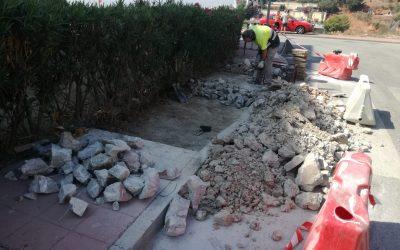 El Ayuntamiento de Rincón de la Victoria acomete nuevas actuaciones de mejoras incluidas en el Plan de accesibilidad municipal