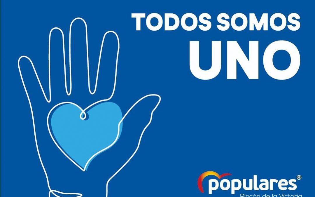 """El Partido Popular de Rincón de la Victoria se suma a la red solidaria """"Todos Somos Uno"""""""